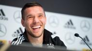 Podolski blickt optimistisch in die Zukunft