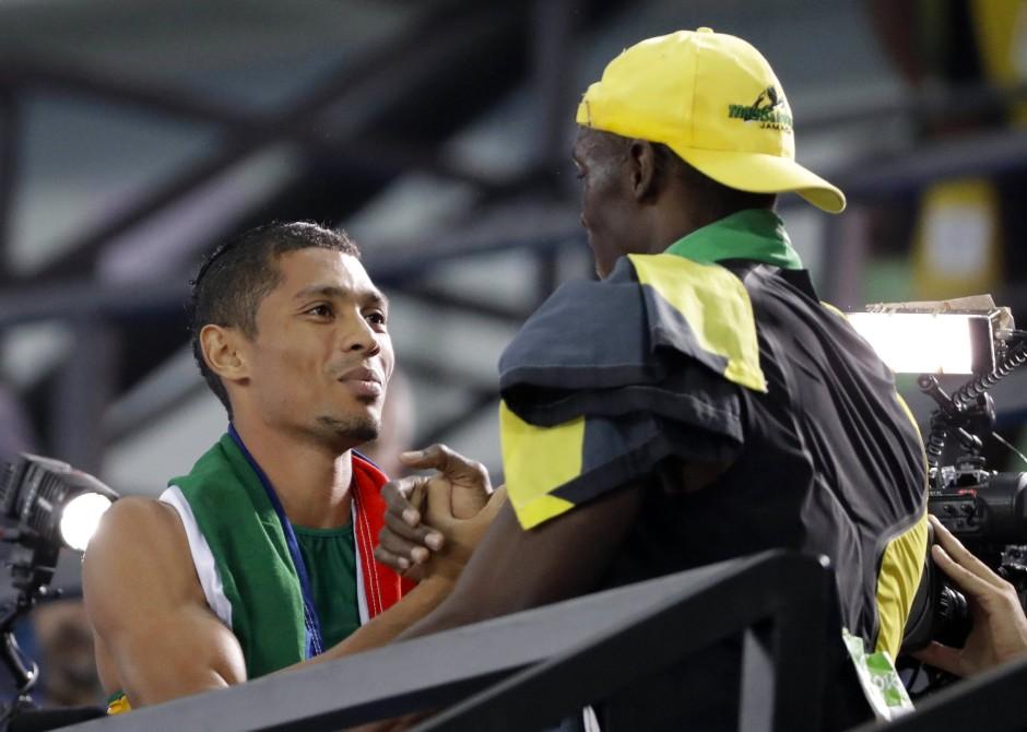Der König und sein Prinz: Usain Bolt und Wayde Van Niekerk bei den olympischen Spielen in Rio de Janeiro.