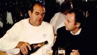 Lehrer und Schüler: Paul Bocuse (l) mit Eckart Witzigmann Anfang der Achtziger
