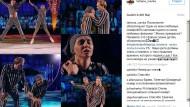 Frau des Kreml-Sprechers tanzt in KZ-Kostüm