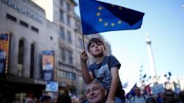 Hunderttausende protestieren in London für zweites Referendum