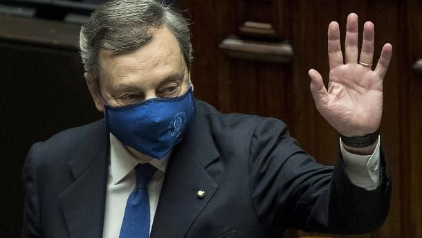 Italiens Hoffnungsträger Draghi geht gestärkt an die Arbeit