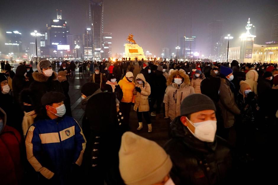 Der Unmut sitzt tief: Demonstranten in der mongolischen Hauptstadt Ulaanbaatar