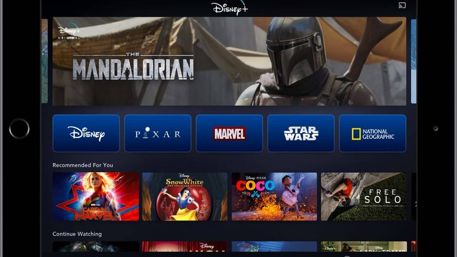 So soll Disney Plus auf einem Tablet aussehen.