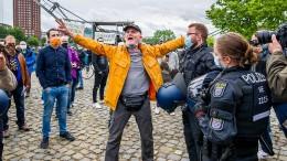 Festnahmen bei Frankfurter Corona-Demo
