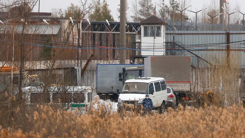Die Strafkolonie in Pokrow, in der Alexej Nawalnyj inhaftiert ist, am 6. April.