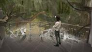 Der will doch nur spielen: Eine neue Animation im Senckenberg-Museum lässt Dinosaurier wieder auferstehen.