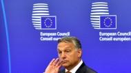 Ungarns Ministerpräsident Viktor Orbán an diesem Donnerstag in Brüssel: Hat er wirklich ein Ohr für die Sorgen der EU?