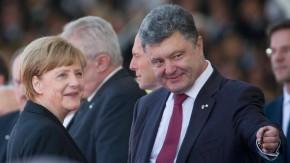 Unter anderem mit Angela Merkel hat der ukrainische Präsident Petro Poroschenko die neuen Friedensgespräche vereinbart.