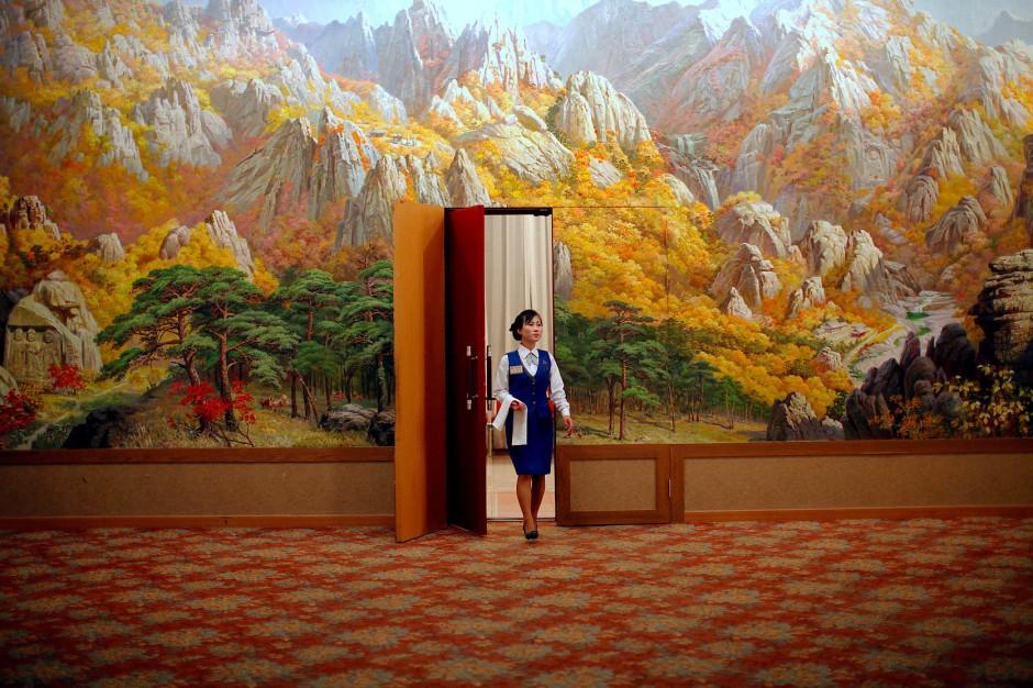Blick auf Berge, auch von innen: die Hotelanlage am Berg Kungang