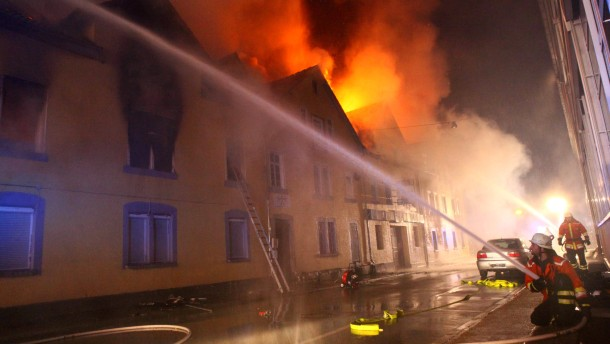 Grossbrand in Backnang