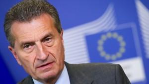 Oettinger will von EU-Staaten mehr Geld für die Türkei