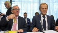 Haben viele Ideen zur Zukunft Europas: Donald Tusk (r.) und Jean-Claude Juncker