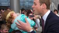 Kein Küsschen für Prinz William