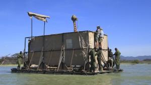 Rettung für Giraffen nach Überschwemmungen
