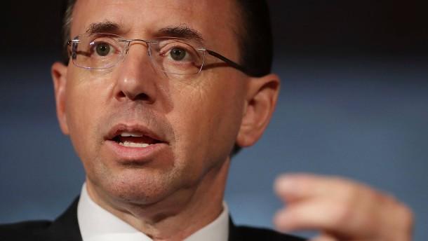 Washington: Vize-Justizminister Rosenstein räumt das Feld