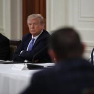 Donald Trump und seine Frau Melania am Dienstag im Weißen Haus.