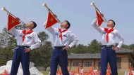 Zeremonie im Nordkorea-Stil: Gedenken an Nordkoreas ersten Führer Kim Il-sung