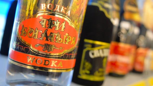 Russlands Wodka-Export bricht ein