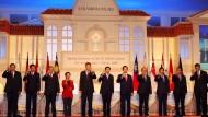 Präsidenten, Premierminister und der Generalsekretär der ASEAN-Staaten beim ASEAN-Gipfel im thailändischen Cha Am im März 2009