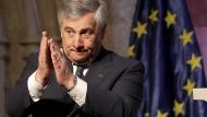 EU-Parlamentspräsident Antonio Tajani (hier im Mai) appelliert an die EU-Staaten, eine gemeinsame Lösung der Flüchtlingsproblematik zu finden.