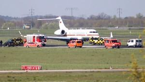 Panne bei Luftwaffen-Jet