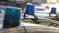 Blaulicht auf Autos in Russland (Symbolbild)