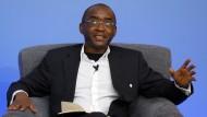Strive Masiyiwa während einer Diskussionsrunde in London