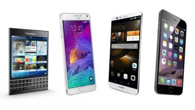 Die fantastischen Vier von Blackberry, Samsung, Huawei und Apple