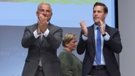 Thomas Strobl (l), Landesvorsitzender der CDU Baden-Württemberg, und Manuel Hagel, Generalsekretär der CDU Baden-Württemberg