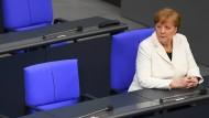 Zunehmend isoliert? Angela Merkel nach ihrer Vereidigung am 14. März im Bundestag