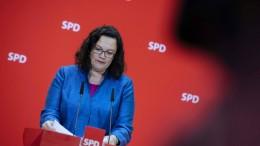 Nahles ruft SPD zur Geschlossenheit auf