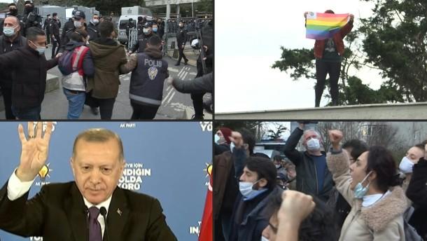 Erdogan attackiert LGBT-Bewegung