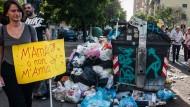 Der ewige Müll: Protest gegen das römische Abfallentsorgungsunternehmen.