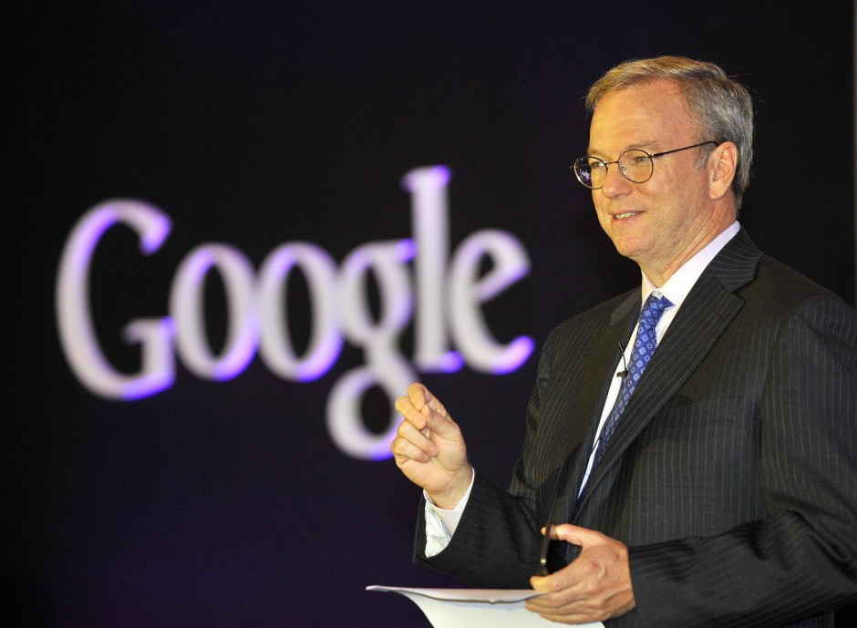 Der Vorstandsvorsitzende von Google/Alphabet: Eric Schmidt