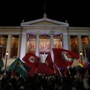 Syriza-Chef Alexis Tsipras nach seinem Wahlsieg in Athen