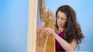 """""""Harfe ist ein bisschen wie Ballett. Das Klischee erwartet eher eine Frau."""" Gegen solche Vorbehalte kämpft die Harfenistin Silke Aichhorn an."""