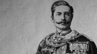 Wilhelm II., damals noch Kronprinz, auf einem Holzschnitt aus 1888.