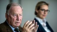 Die Spitzenkandidaten der AfD: Alexander Gauland und Alice Weidel