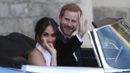 Meghan und Harry kurz nach ihrer Hochzeit im Mai 2018