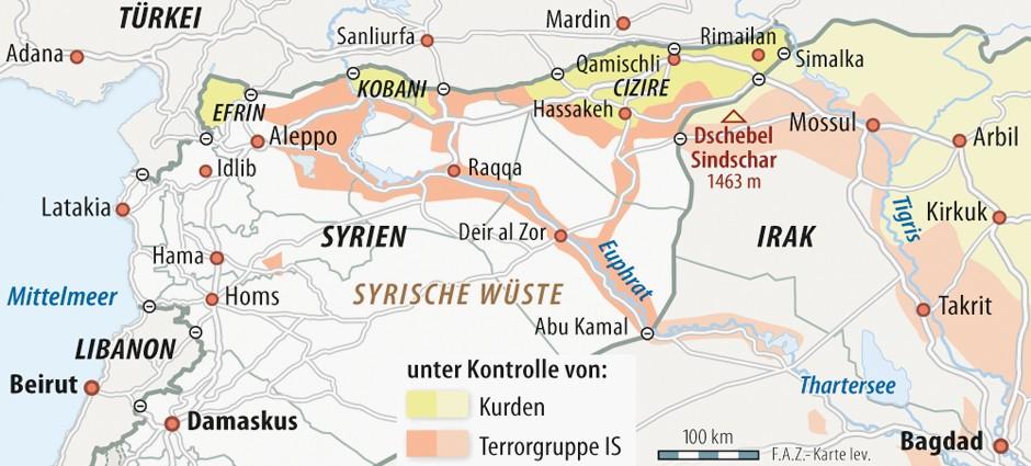 Syrien Irak Karte.Bilderstrecke Zu Cia Geht Von Bis Zu 31 500 Is Kämpfern Im Irak Und