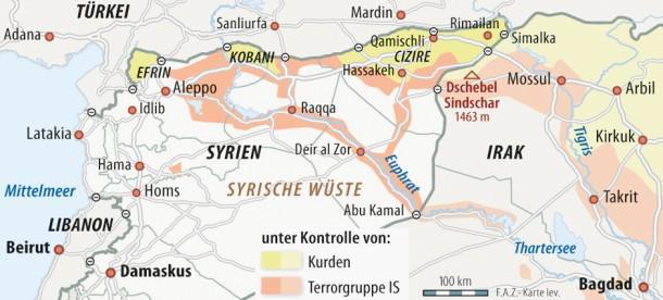 Karte Syrien Irak.Bilderstrecke Zu Cia Geht Von Bis Zu 31 500 Is Kampfern Im