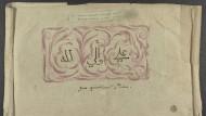 """Aufbewahrungskapsel für Gedichte mit der Aufschrift """"Zum künftigen Divan"""", 1818."""
