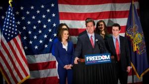 Den Namen Romney erwähnte Santorum nicht