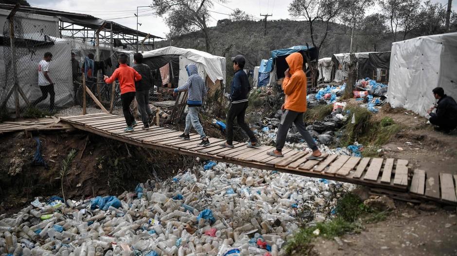 Gefährdet: Kinder im Flüchtlingslager Moria auf der griechischen Insel Lesbos
