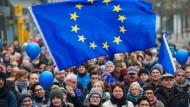 Sie gehen für Europa auf die Straße