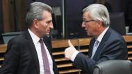 Oettinger und Juncker (im November 2014)