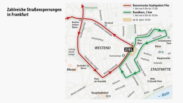 rund um den finanzplatz eschborn frankfurt beim radrennen am 1 mai werden busse und autos. Black Bedroom Furniture Sets. Home Design Ideas