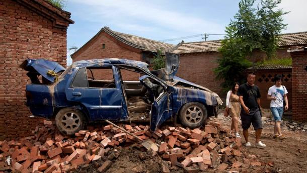 Mindestens 95 Tote nach Unwettern in China