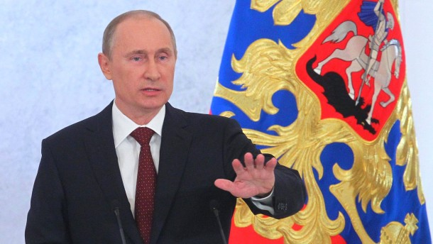 Russian President Vladimir Putin addresses to the Federal Assembl